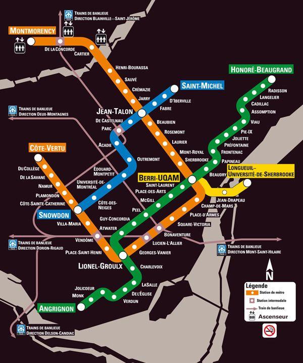 voici la carte du métro